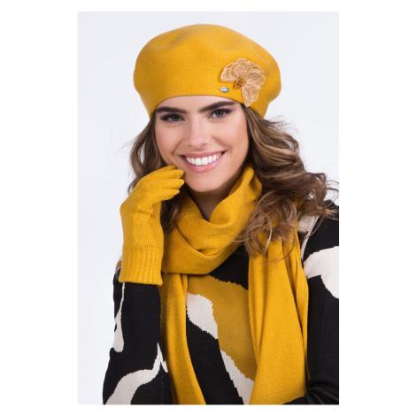 Kamea Woman's Beret K.20.076.25 Mustard
