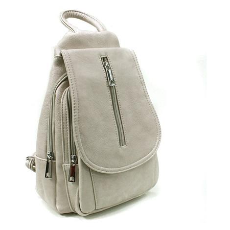 Světle šedý dámský elegantní batoh Candel Mahel
