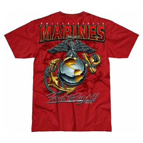 Pánské tričko 7.62 Design® USMC Eagle, Globe & Anchor - červené