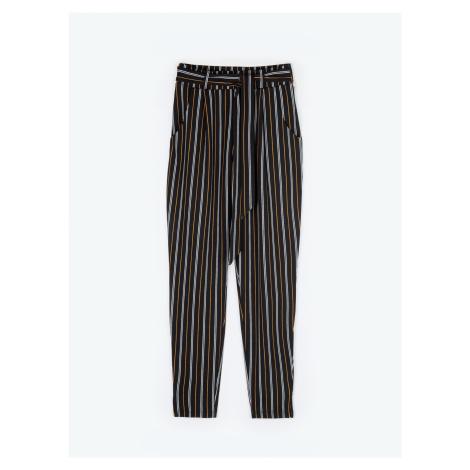 GATE Proužkované kapsové kalhoty