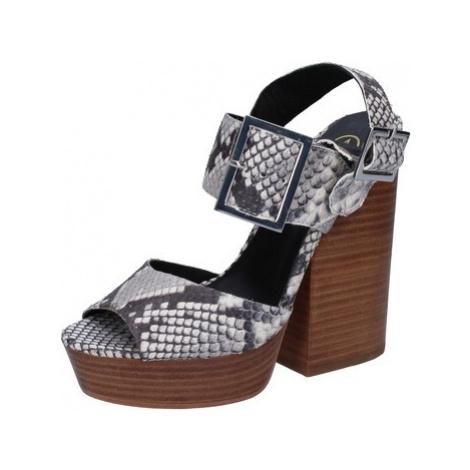 Ash sandali grigio pelle pitonata AB630