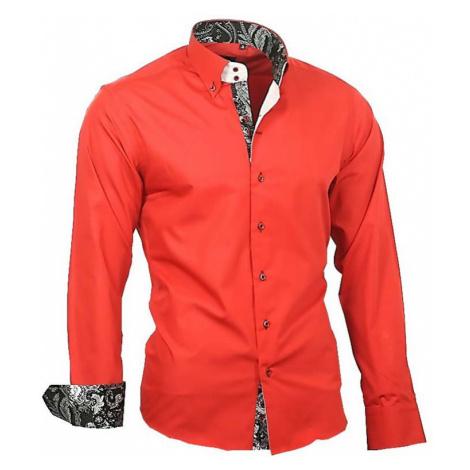 BINDER DE LUXE košile pánská 86007 dlouhý rukáv Paisley