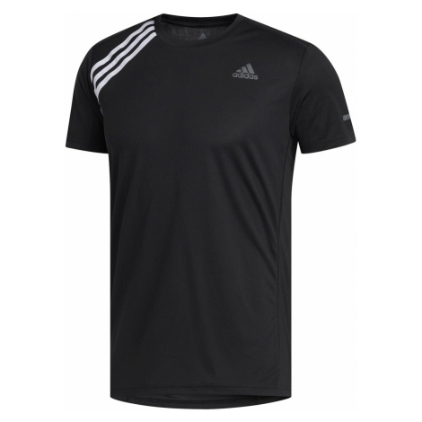 Běžecké tričko adidas Run It 3-stripes Tee Černá / Bílá