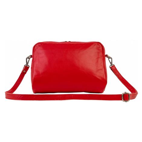 Bagind Moye Red - Dámská kožená kabelka crossbody červená, ruční výroba, český design