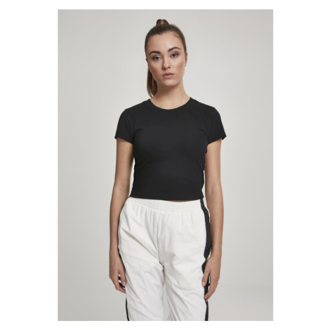 Ladies Stretch Jersey Cropped Tee - black Urban Classics