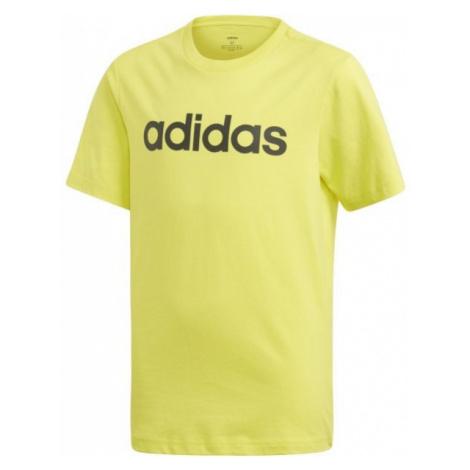 adidas ESSENTIALS LINEAR T-SHIRT žlutá - Chlapecké tričko