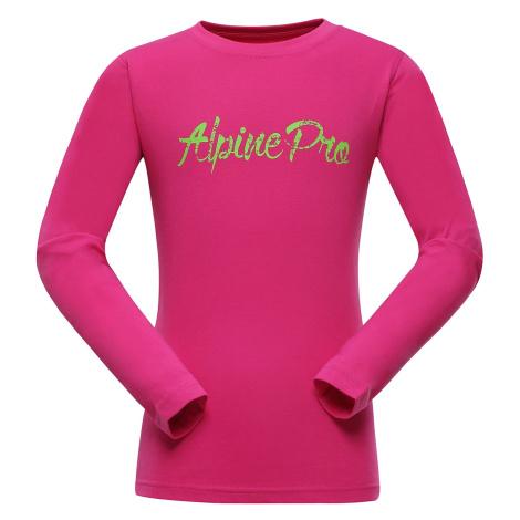 Dětské triko Alpine Pro DILILO - růžová