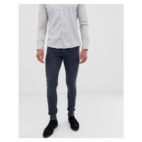 ASOS DESIGN super skinny jeans in dark smokey blue