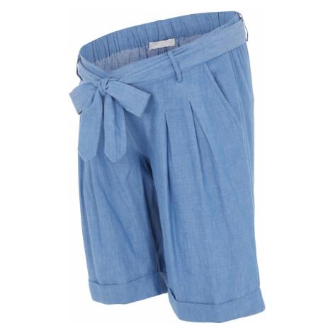 MAMALICIOUS Kalhoty se sklady v pase 'Milana' kouřově modrá Mama Licious