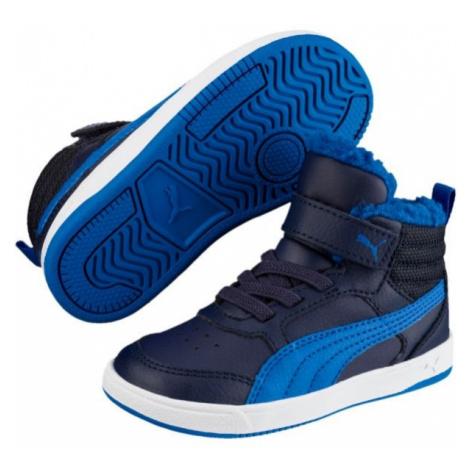 Puma REBOUND STREET V2 FUR PS modrá - Dětská zimní obuv
