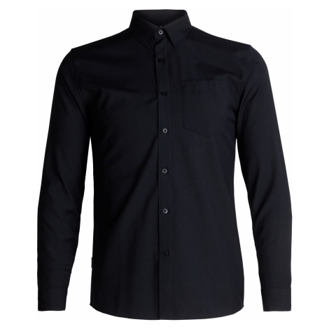 Pánská košile ICEBREAKER Mens Departure II LS Shirt, Black Icebreaker Merino