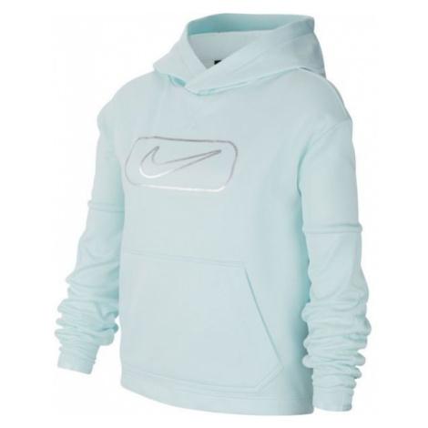 Nike THERMA PO GFX SHINE G modrá - Dívčí mikina