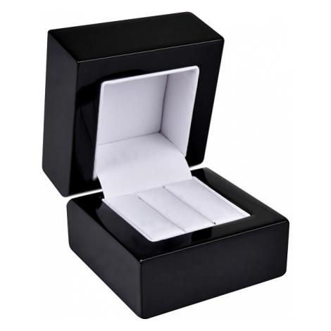 JK Box Dřevěná krabička na náušnice nebo snubní prsteny BB-2/NA/A25 JKbox