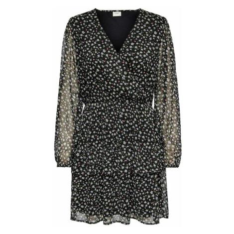 JACQUELINE de YONG Šaty černá / bílá / zelená / růžová