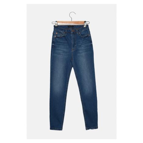 Trendyol Blue Petite High Waist Skinny Jeans