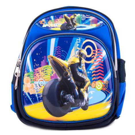 Modrý dětský roztomilý batoh Moto