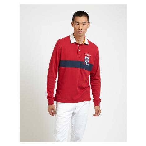 Polokošile La Martina Man Polo L/S Jersey Interlock - Červená