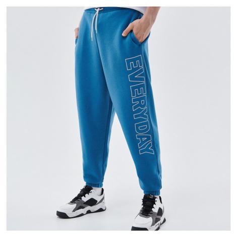 Cropp - Žerzejové kalhoty joggers - Modrá