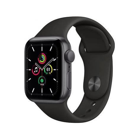 Apple Watch SE 44mm Vesmírně černý hliník s černým sportovním řemínkem
