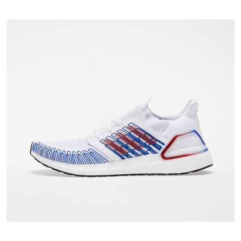 adidas UltraBOOST 20 Ftw White/ Scarlet/ Royal Blue