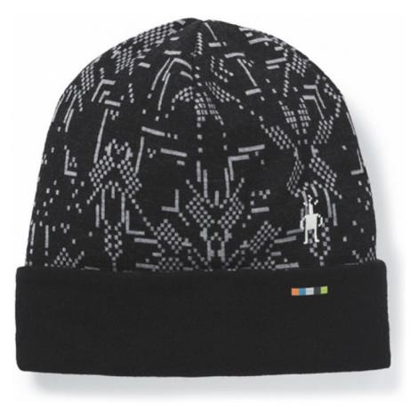 Čepice Smartwool Merino 250 Pattern Cuffed Beanie black digital snowflake