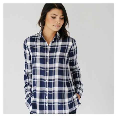 Dámská košile tmavě modrý károvaný vzor 10379 Willsoor