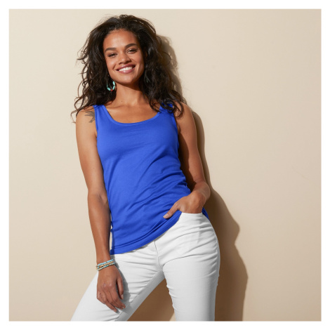 Blancheporte Top ze 100% bavlny, sada 2 ks modrá+růžová