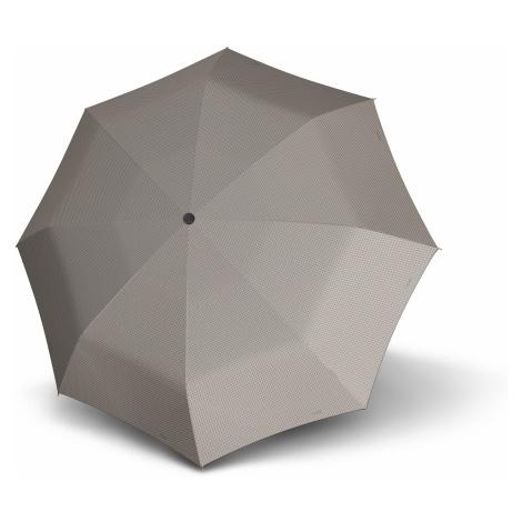 Šedobéžový skládací plně automatický dámský deštník Zoey Doppler