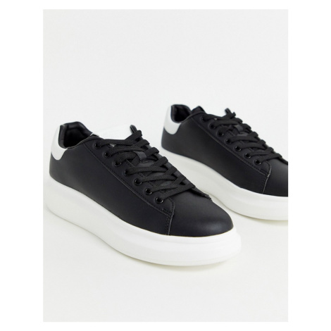 River Island trainers with chunky sole in black