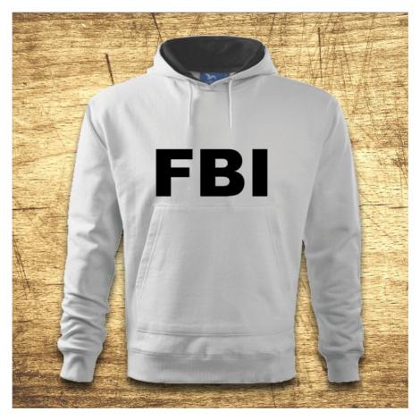 Mikina s kapucňou s motívom FBI BezvaTriko