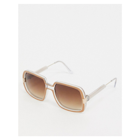 Spitfire Rising With The Sun oversized sunglasses in brown