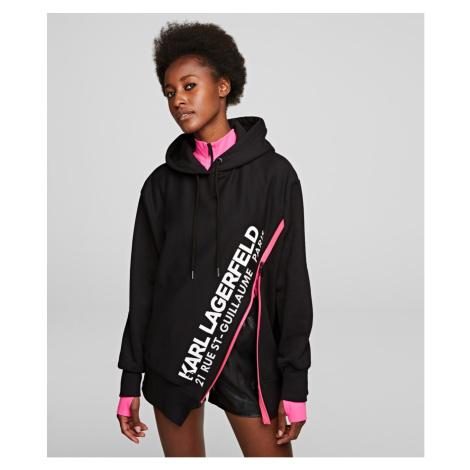 Mikina Karl Lagerfeld Rue St-Guillaume Zip Hoodie - Černá