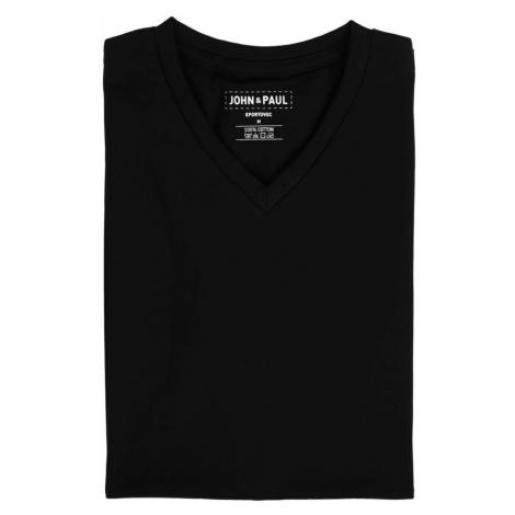 Pořádné tričko John & Paul - černé (V-neck)