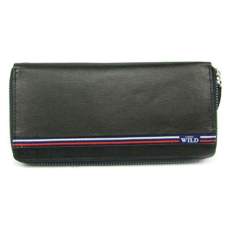 Kožená peněženka dámská černá Wild