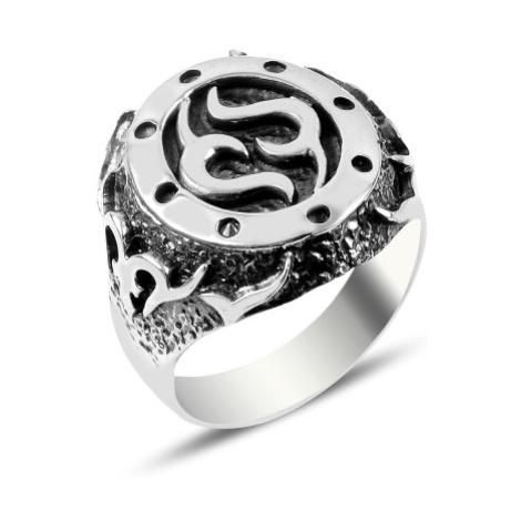 OLIVIE Pánský masivní stříbrný prsten 3718