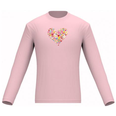 Pánské tričko dlouhý rukáv Květinové srdce