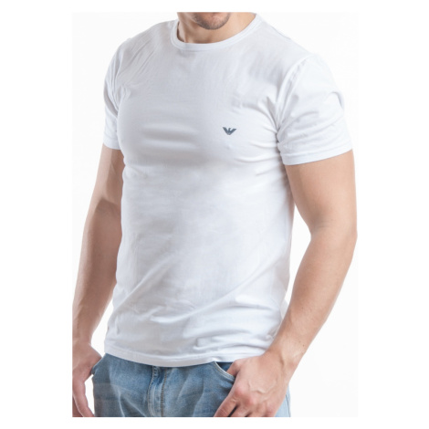 Pánské tričko Emporio Armani 111267 CC717 bílá Bílá