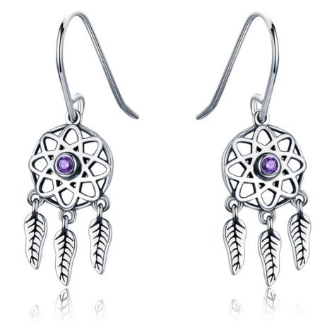 Linda's Jewelry Stříbrné náušnice Snový Lapač Ag 925/1000 IN211
