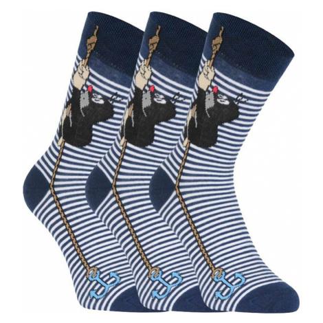 3PACK ponožky BOMA modré (KR 111) S