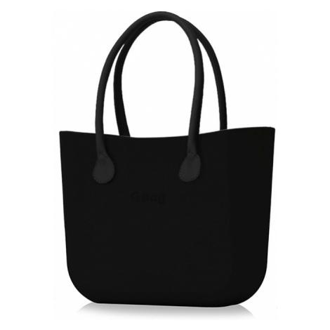 Kabelka obag černá s držadlem koženka černá O bag