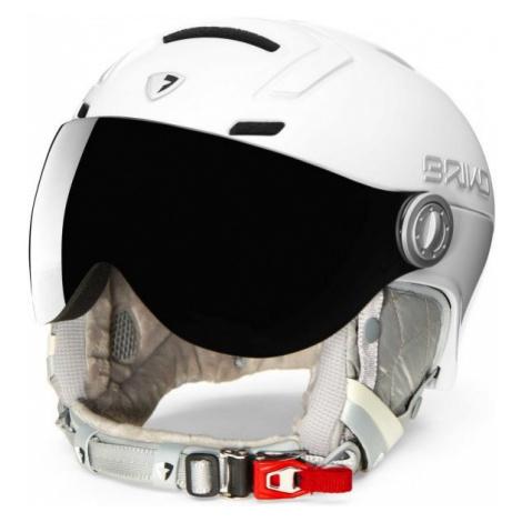 Briko AMBRA VISOR PHOTO bílá - Dámská lyžařská helma