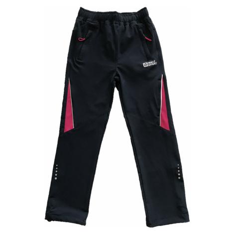 Dívčí softshellové kalhoty - Wolf B2086, tmavě modrá