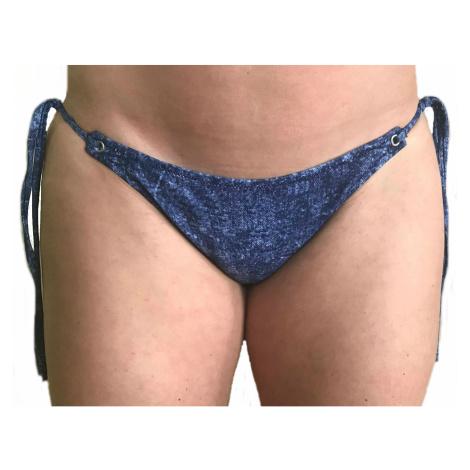 Dámské plavky Guess E82O15 kalhotky | modrá