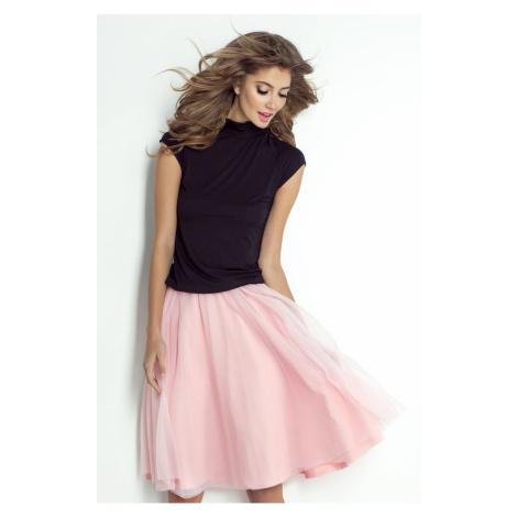 Týlová plisovaná sukně délky midi
