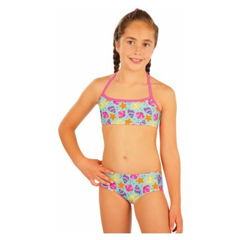 Dívčí dvojdílné plavky Litex - růžová