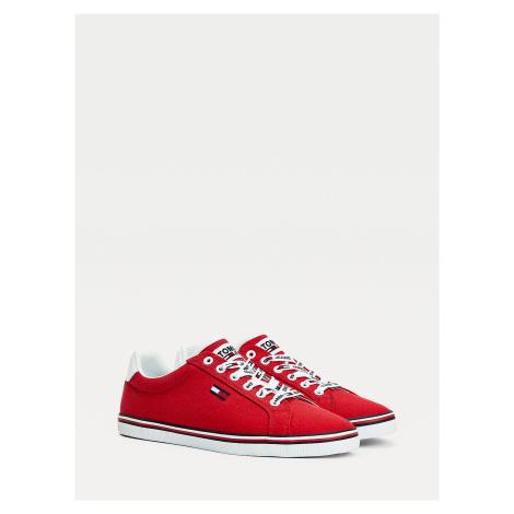 Tommy Jeans dámské červené tenisky Essential Tommy Hilfiger
