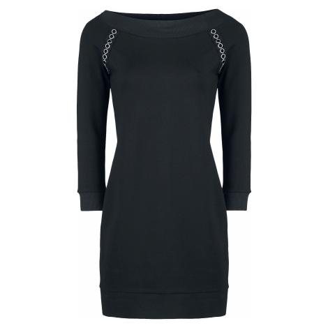 Gothicana by EMP Černé šaty s odhaleným ramenem Šaty černá