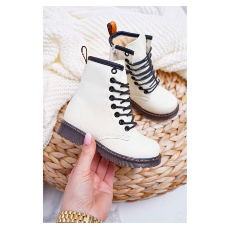 Children's Boots Warm With Zipper Fluorescent White Gabby Kesi