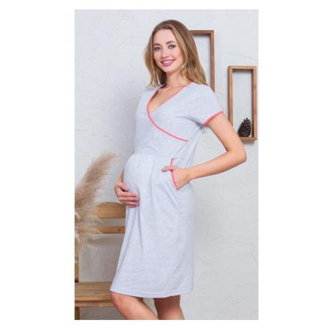Dámská noční košile mateřská Kristýna, XL, lososová Vienetta Secret