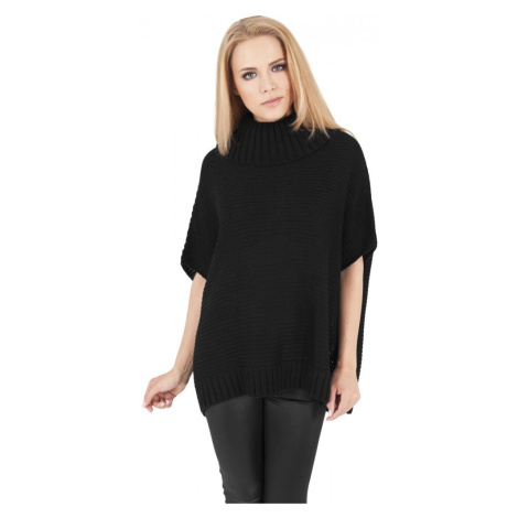 Ladies Knitted Poncho - black Urban Classics